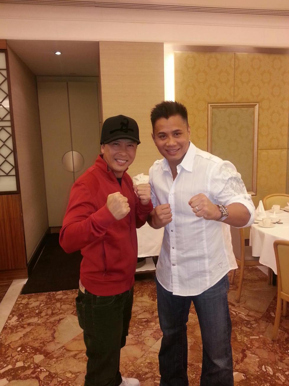Donnie Yen and Cung Le dining in Hong Kong